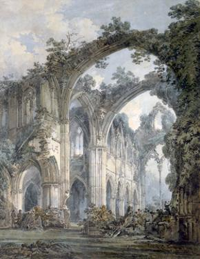 'Inside of Tintern Abbey, Monmouthshire', c1794 by JMW Turner
