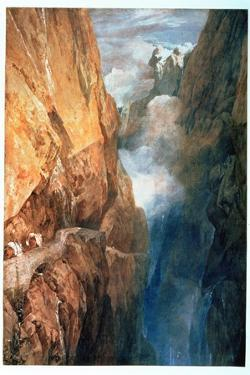 Passage of Mount St. Gotthard from the Devil's Bridge, 1804 by JMW Turner