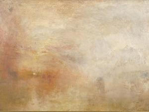 Sun Setting over a Lake by JMW Turner