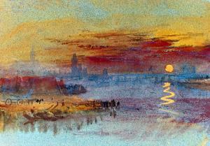 Sunset on Rouen by JMW Turner