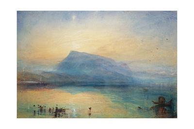 The Blue Rigi: Lake of Lucerne - Sunrise, 1842