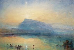 The Blue Rigi: Lake of Lucerne - Sunrise, 1842 by JMW Turner