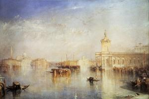 The Dogana, San Giorgio, Citella, from the Steps of the Europa, Venice, 1842 by JMW Turner