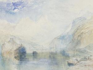 The Lauerzersee with Schwyz and the Mythen, early 1840's by JMW Turner