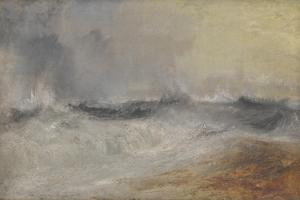 Waves Breaking Against the Wind by JMW Turner