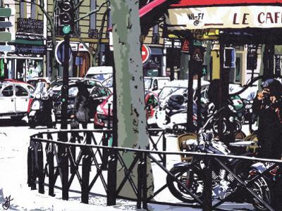 Parisian Cafe by Jo Fairbrother