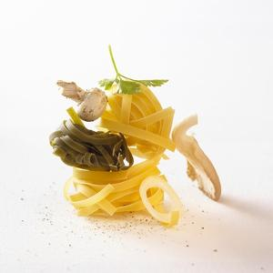 Ingredients for Tagliatelle with Mushrooms and Herbs by Jo Kirchherr