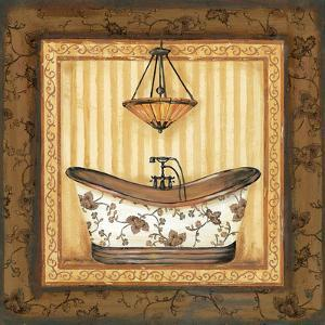 Copper Paisley Bath I by Jo Moulton