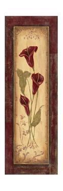 Crimson Blooms I by Jo Moulton