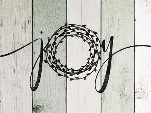 Joy Rustic Wreath II by Jo Moulton