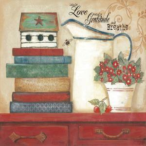 Love Gratitude Breathe by Jo Moulton