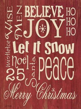 Merry Christmas Typography by Jo Moulton