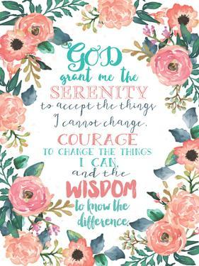 Serenity Prayer Floral by Jo Moulton