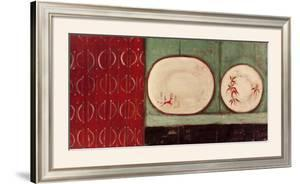 Two Antique Plates by Jo Oakley