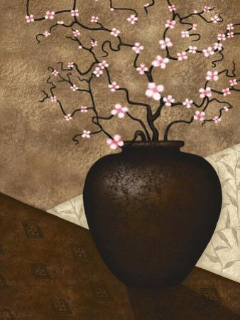 Cherry Blossom in Vase by Jo Parry