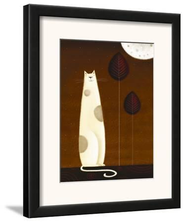 Feline and Two Leaves by Jo Parry