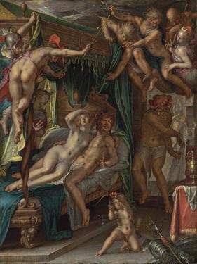 Mars and Venus Surprised by Vulcan by Joachim Wtewael