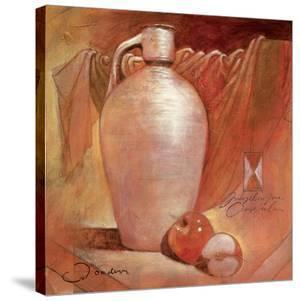Apples on White Jug by Joadoor