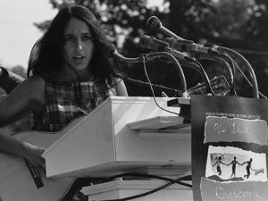 Joan Baez Singing at the 1963 Civil Rights March on Washington