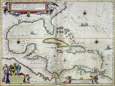 "Caribbean and Central America: from the Atlas ""Toonneel Des Aer Drycx"", Vol II, Published, 1650"