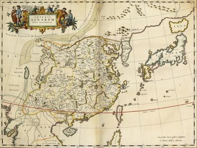 Map of China, from 'Atlas Maior Sive Cosmographia Blaviana', 1662
