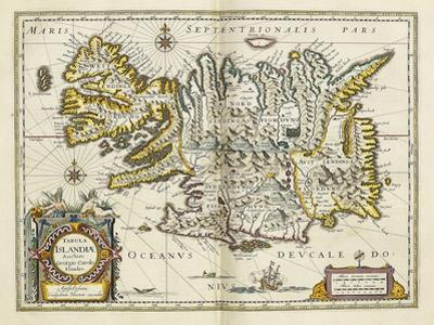 Map of Iceland, from 'Atlas Maior Sive Cosmographia Blaviana', 1662