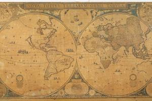 'Nova Totius Terrarum Orbis Tabula' (World Map) C.1655-58 by Joan Blaeu