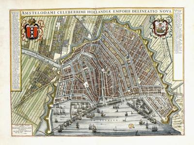 Plan and View of the Towns and Buildings of Holland and the Low Countries, 1649