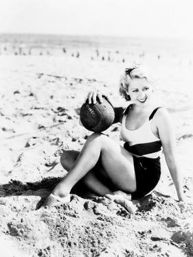 Joan Blondell at the Beach, 1933