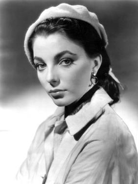 Joan Collins, British actress born May 23rd, 1933, here 1952 (b/w photo)