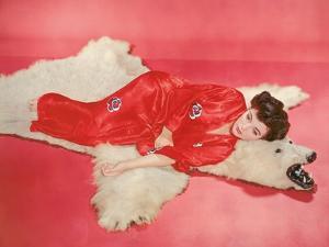 Joan Collins, British actress born May 23rd, 1933, here 1957 (photo)