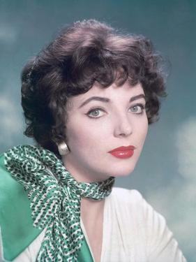 Joan Collins, British actress born May 23rd, 1933, here 1958 (photo)