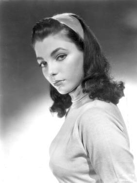 Joan Collins, English actress born May 23rd, 1933, here 1952 (b/w photo)