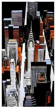 Chrysler Building Sky View by Joan Farré