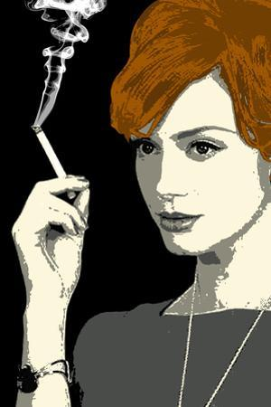 Joan Holloway Smoking Pop Television Plastic Sign