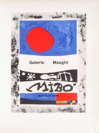 AF 1953 - Galerie Maeght by Joan Miró