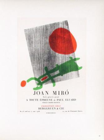 AF 1958 - Berggruen Et Cie by Joan Miró