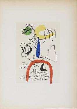 Derriere le Miroir Maeght Editeur by Joan Miro