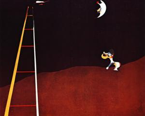 Dog Barking at the Moon by Joan Miro