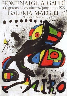 Expo 79 - Homenatge A Gaudi by Joan Miró