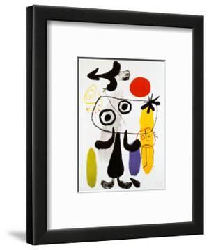 Figur Gegen Rote Sonne II, c. 1950 by Joan Miró
