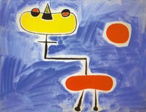 Figur Vor Roter Sonne by Joan Miro