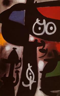Frau und Vogel, c.1968 by Joan Miro
