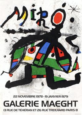 Galerie Maeght, 1979 by Joan Miro