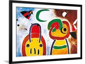 L'Oisauau Plumage Deploye by Joan Miró