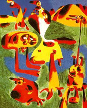Personnages et Montagnes, c.1936 by Joan Miró