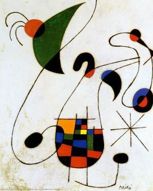 The Melancholic Singer by Joan Miro