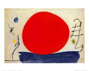 The Red Sun by Joan Miro