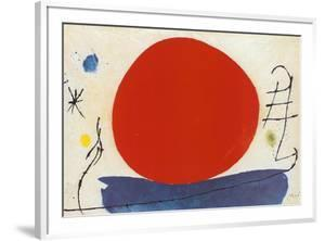 The Red Sun by Joan Miró