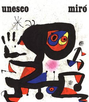 Unesco-Droits de L'Homme by Joan Miro